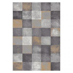 Covor gri, Stil modern, 6 dimensiuni, Model geometric, Amber Grey