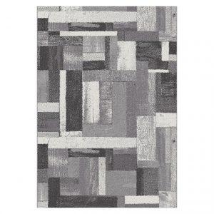 Covor gri si negru, Stil modern, 6 dimensiuni, Model geometric, Amber