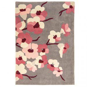 Covor imprimeu floral, 80x150cm, Stil modern, Blossom
