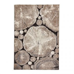 Covor maro, Design Modern, Dimensiune de 120x170 cm, Woodland