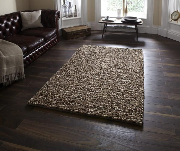 Covor pufos bej, Design Modern, 150 x 230cm, Pebbles Beige