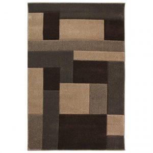 Covor pufos maro, 200x290 cm, Stil modern, Model geometric, Cosmos