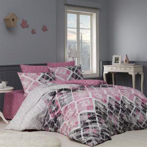 Lenjerie de pat bumbac 100%, 2 persoane, 220x200cm, Design Modern