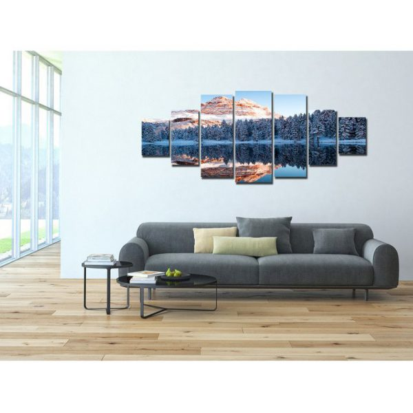 Tablou DualView, tablou luminos in intuneric, Muntii inghetati, 7 piese