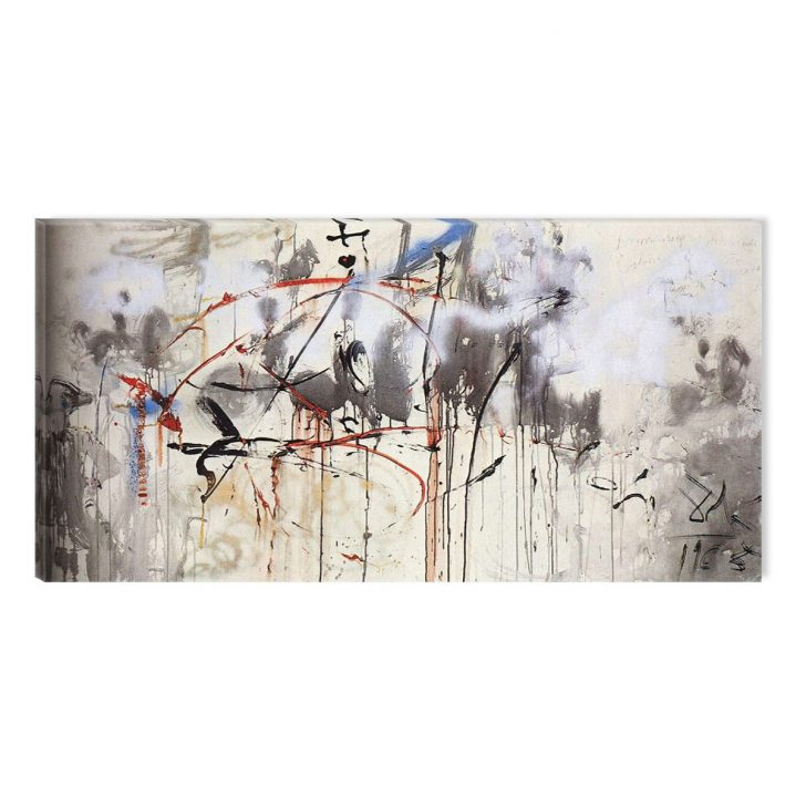 Tablou luminos in intuneric, Model abstract, DualView, 90x180 cm
