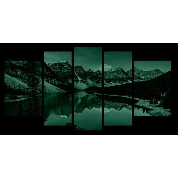 Tablou luminos in intuneric, Peisaj Lac de Munte, DualView, 7 piese