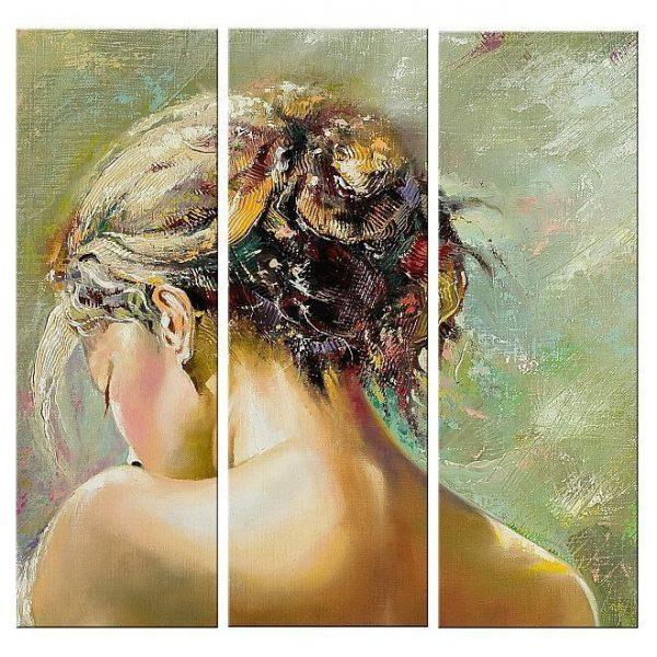 Tablou luminos in intuneric, Spate de femeie, DualView, 120 x 120