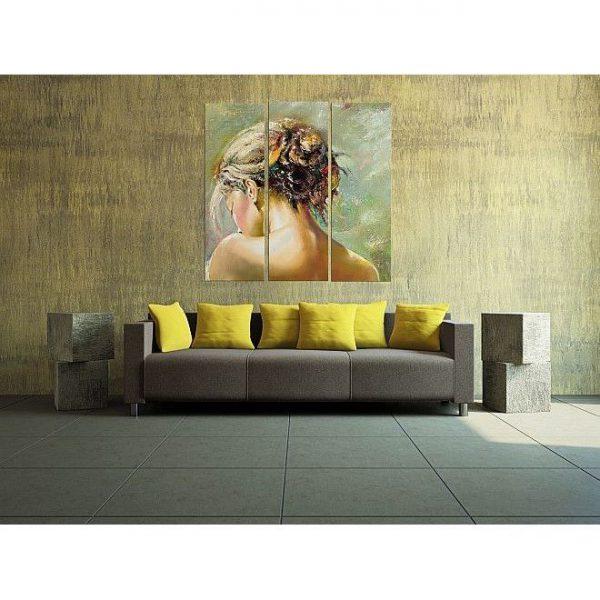 Tablou luminos in intuneric, Spate de femeie, DualView, 120 x 120 cm