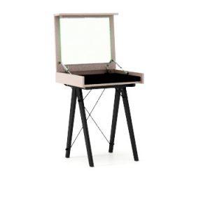 masa machiaj mica moderna cu oglinda alba 65x35x74 cm