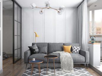Idei pentru amenajare garsoniera moderna Dormitorul si livingul in aceeasi camera