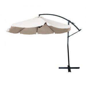Umbrela de gradina, Bej, Suspendata, Diametru 3 m
