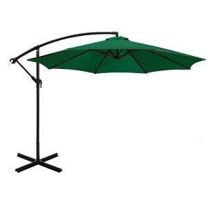 Umbrela de gradina, Verde, Suspendata, Diametru 2,7 m