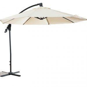 Umbrela de gradina bej Design modern Diametru 2,5 m