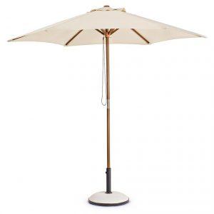 Umbrela de gradina bej Picior de lemn Design modern
