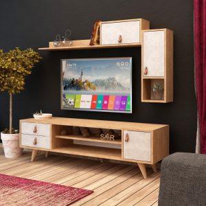 Mobila living maro Moderna Comoda TV Rafturi Dulapuri