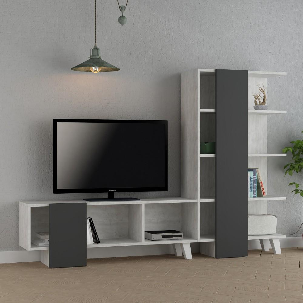 Set mobila living Modern Comoda TV Rafturi mobilier living