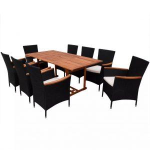 Set mobilier mare de gradina 17 piese Modern din lemn