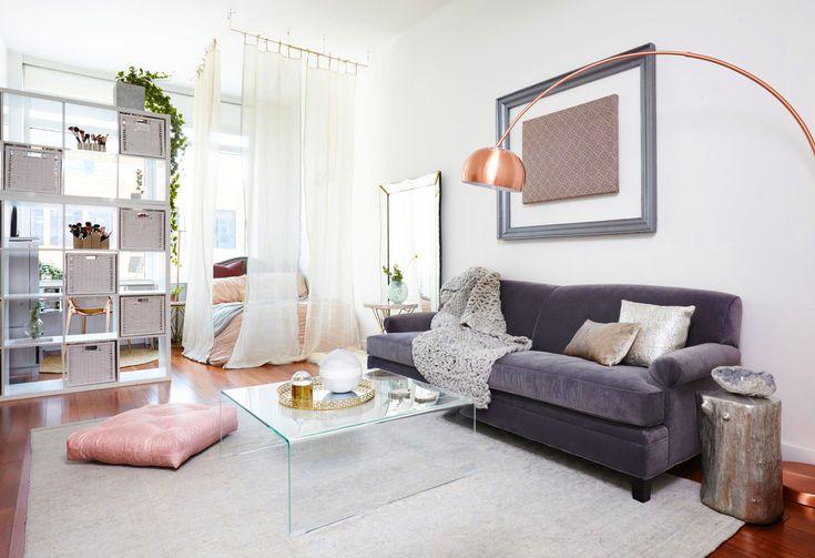 idee amenajare Living si dormitor in aceeasi camera living modern