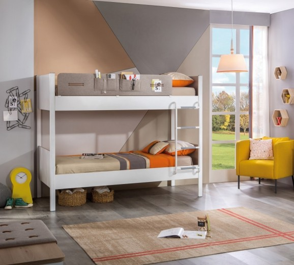 Pat supraetajat pentru copii Design Modern diverse culori 190x100 Dynamic