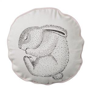 Perna decorativa Sleeping Rabbit Nude, O30 cm