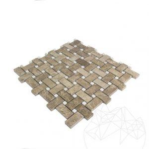 Mozaic Marmura Light Emperador si Burdur Beige Polisat MSM12