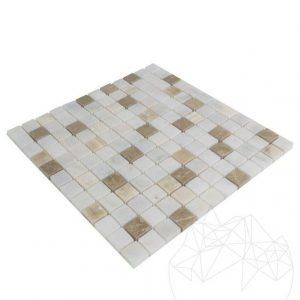 Mozaic Marmura Alba - Onix - Emperador Mix Polisata 2.3 x 2.3 cm