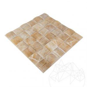 Mozaic Onix Honey Pyramid Polisat 5 x 5cm