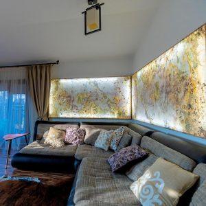 Ardezie Flexibila SKIN - Indian Autumn Translucida 210 x 105 cm