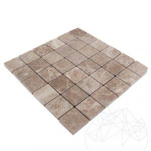 Mozaic Marmura Light Emperador Antichizata 4.8 x 4.8cm