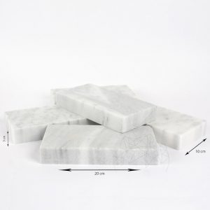 Piatra Cubica Marmura Kavala Neslefuita 20 x 10 x 3cm