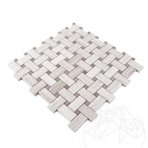 Mozaic Marmura Athena Grey Wood si Athena White Wood Basket Weave Polisat