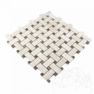 Mozaic Marmura Dark Emperador si Burdur Beige Polisat MSM12 - Lichidare Stoc