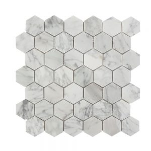 Mozaic Marmura Bianco Carrara HexagonSmall Mata