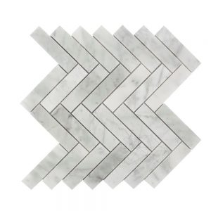 Mozaic MarmuraBiancoCarraraChevronMata