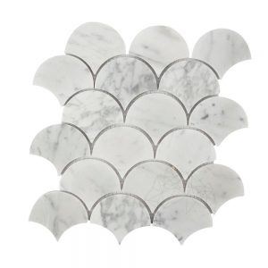 Mozaic Marmura Bianco CarraraFish ScaleMata