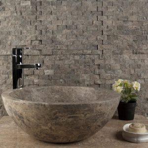 Mozaic Marmura Dark Emperador Scapitat 2.3 x 4.8cm - Lichidari Stoc