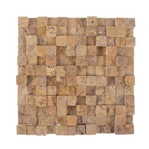 Mozaic Travertin Yellow 3D Scapitat 2.5 x 2.5cm