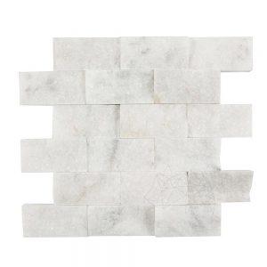 Mozaic Marmura Mugla White Scapitata 5 x 10cm