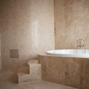 Mozaic Travertin Classic Polisat 2.3 x 2.3 cm
