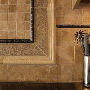 Mozaic Travertin Classic Polisat 4.8 x 4.8 cm