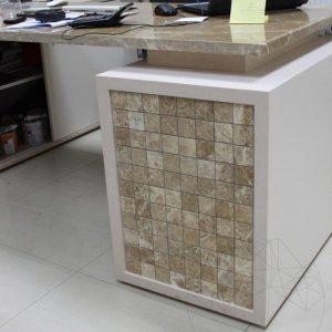 Mozaic Marmura Light Emperador Polisata 4.8 x 4.8 cm