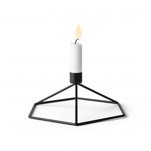 Suport lumanare POV Candleholder Table Negru