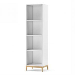 Biblioteca din MDF Elle White, l51xA45xH184 cm
