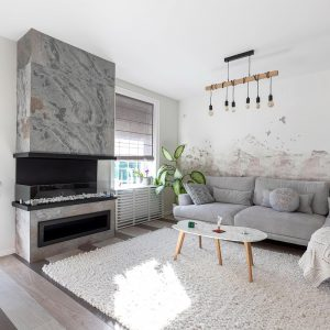 Ardezie Flexibila SKIN - Autumn White 122 x 61cm