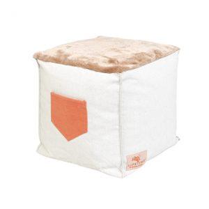 Taburet pentru copii, tapitat cu stofa Sugar Pie Multicolor, l38xA38xH38 cm