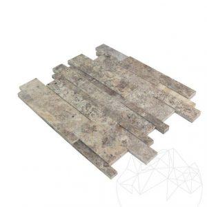 Mozaic Travertin Silver 3D Wall Polisat