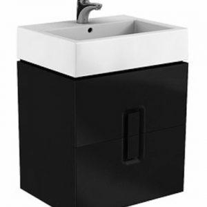 Dulap baza Kolo Twins cu 2 sertare cu inchidere lenta 60cm culoare negru mat