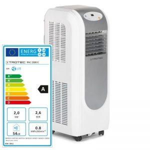 Aer conditionat portabil Trotec PAC 2000E, Capacitate 7.000 Btu, Debit 330mc/ora, Telecomanda, Display, Pentru 26mp