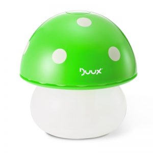 Umidificator Duux Mushroom Verde, Rata umidificare 220 ml/ora, Consum 20W/h, Debit aer 30 mc/h, Veioza, Pentru 15mp