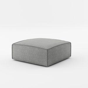 Taburet tapitat cu stofa NOi Grey, l90xA90xH38 cm